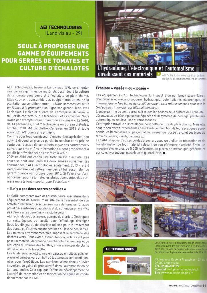 Article fusion magasine juin 2014 1